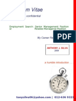 Resume - Anthony J. Silva