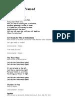 Zimmer Framed Lyrics