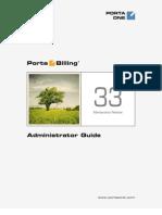 PortaBilling Admin Guide MR33