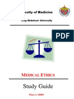 Medical Ethics Study Guide 6-3-2010