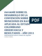 Documento Informe Convención sobre municiones en Racimo - Tesis camilo Serna