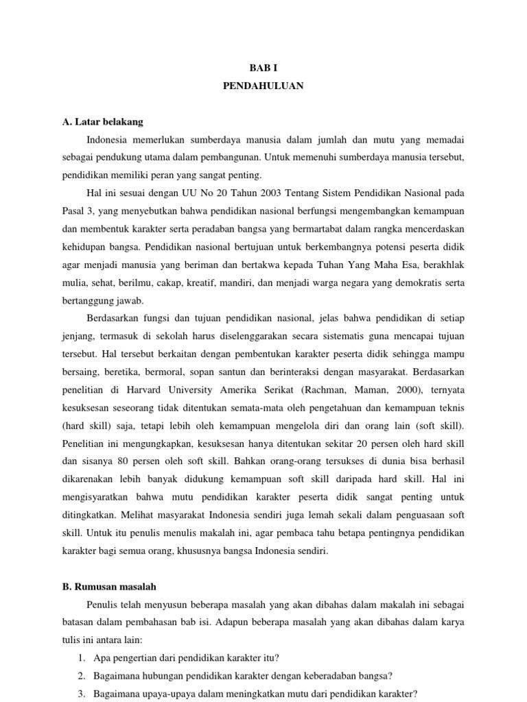 Jurnal Pendidikan Agama Jurnal Pendidikan Karakter Dalam Keluarga
