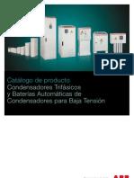 Catalogo Condensadores Trifasicos Baja Tension ABB