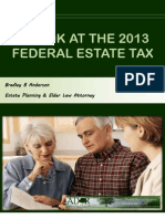 A Look at the 2013 Federal Estate Tax