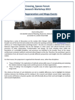Final Programme Urban Regeneration and Mega-Events Workshop