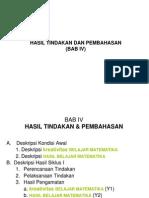 HASIL TINDAKAN DAN PEMBAHASAN DALAM PTK Bab 4_2.ppt