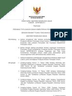 Permen No 10 PRT M 2011 Thn 2011 Ttg Pedoman Tata Naskah Din Kemenpu
