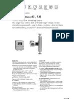 Proline Promass 80I, 83I (SI Units)