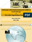 Challenges with Implementing the CMMI in Small Settings