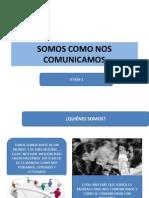 SOMOS COMO NOS COMUNICAMOS Sesión 1