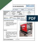 110204705 Ficha Tecnica de Maquinaria