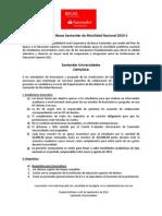 Convocatoira Becas Santander de Movilidad Nacional 2013-1