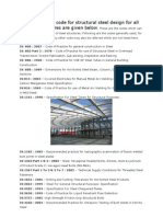 Indian Standard Code for Structural Steel Design for All Types of Structures Are Given Below