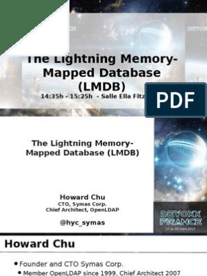 The Lightning Memory-Mapped Database (LMDB) | Computer
