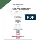 Analysis of Housing Finance Schemes of HDFC Bank ICICI Bank PNB SBI Bank