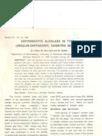 Erythrocyte Aldolase in Type I (Insulin-Dependent) Diabetes Mellitus