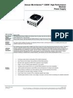 Silencer MK3 1200W SKU Sheet