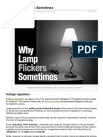 Electrical Engineering Portal.com Why Lamp Flickers Sometimes