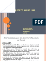 Decreto 614 de 1984 Cap 1- 10