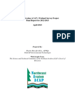 Northeast Avalon ACAP's Wetland Survey Project Final Report for 2012-2013
