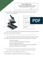 3. Mini-Teste - O Microscópio
