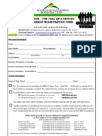 college tour student registration form fall 2013