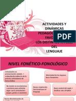 ACTIVIDADES Y DINÁMICAS PEDAGÓGICAS_NIVELES DEL LENGUAJE