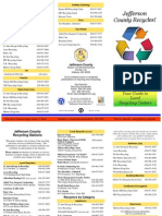 Recycling Brochure- Different Items Listing