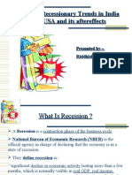 recession in the US and its aftereffects in India