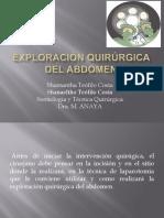 Exploración Quirúrgica Abdominal