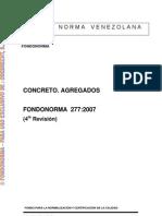 0277-2007 Norma Concreto Agregados