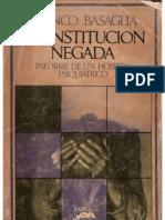 Basaglia Franco La Institucion Negada