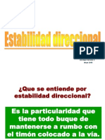 Estabilidad direccional V4