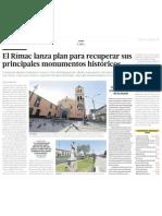 El Rímac lanza plan para recuperar sus principales monumentos históricos