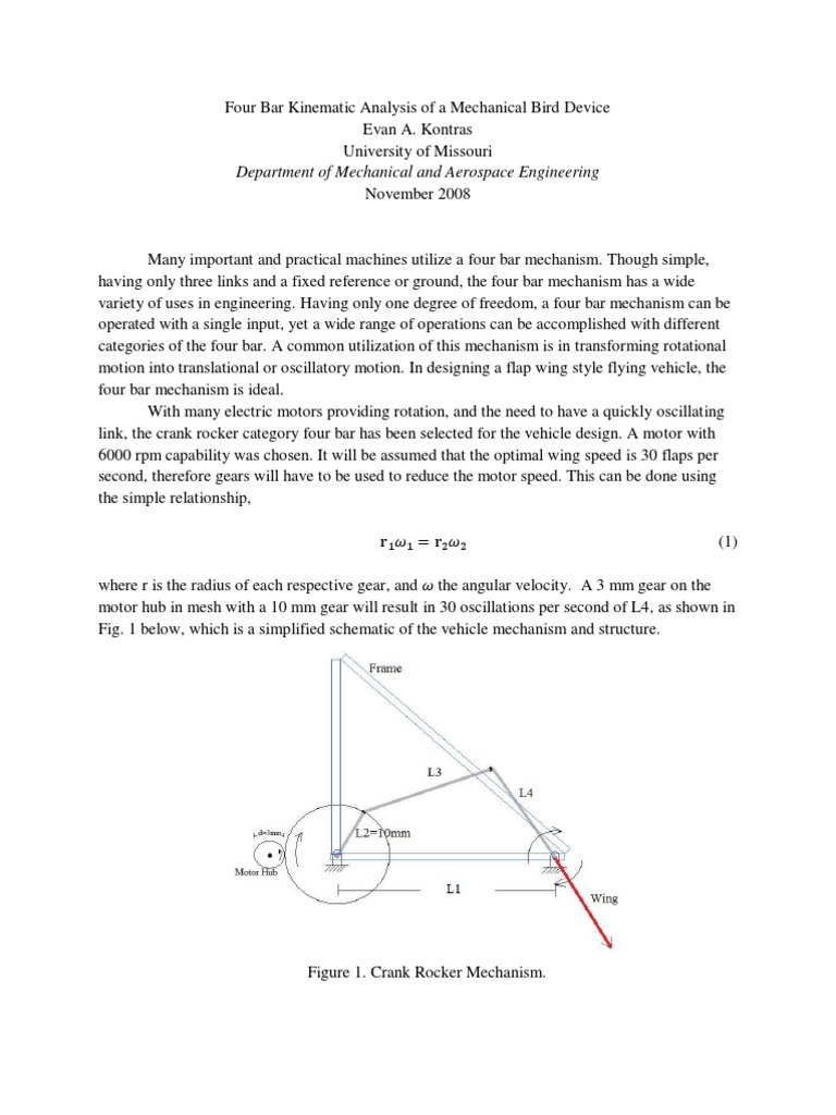 Four_Bar_Kinematic_Analysis_of_a_Mechanical_Bird_Device pdf