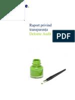 Deloitte Raport Privind Transparenta 033012