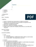 Educação Física 1º ano pesquisa escrita