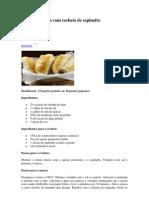 Pastéis de forno com recheio de espinafre