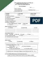 Pna Form - Regular Member