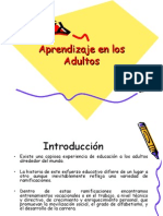 Aprendizaje en Los Adultos