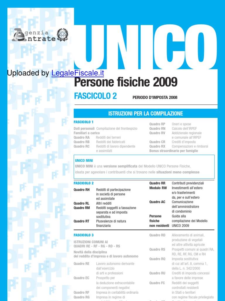 unico 2005 reddito 2004 fascicolo 1