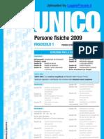 Istruzioni Modello Unico PF 2009 - Fascicolo 1