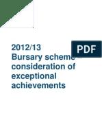 Bursaries Consideration of Exceptional Achievements