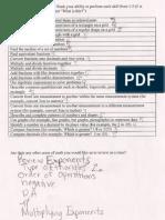 math skills auto-evaluation