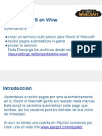 Acepta pagos moviles en World of Warcraft (WOW) usando mensajes de texto SMS