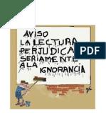 Cartel - Comic Sobre La Lectura