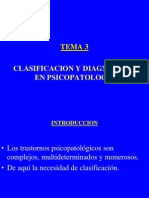 Tema 3 Clasificacon y Diagnostico en Pscopatologia