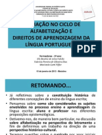 AVALIAÇÃONO CICLO DE ALFABETIZAÇÃO