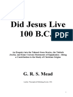Mead, GRS - Did Jesus Live 100 BC