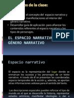 El espacio narrativo en el género narrativo.pptx